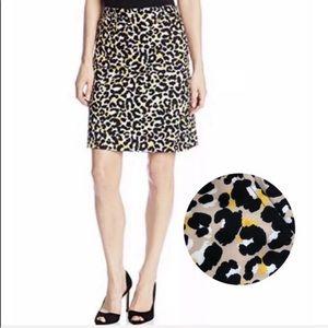 EUC Anne Klein  Animal Print Leopard Saffron Skirt